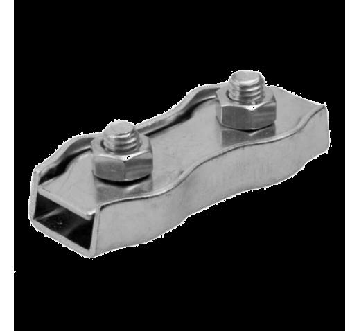 Зажим для стальных канатов двойной (DUPLEX), оцинкованный